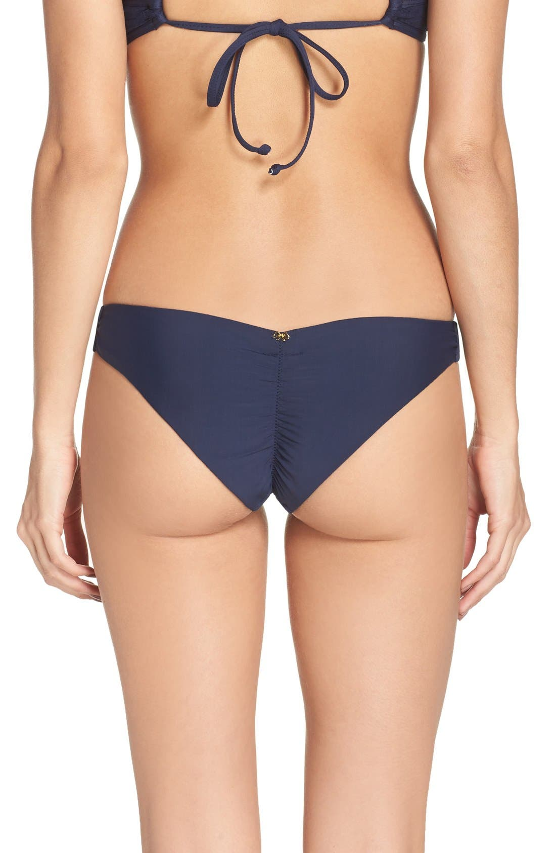 Ruched Bikini Bottoms,                         Main,                         color, Atlantis