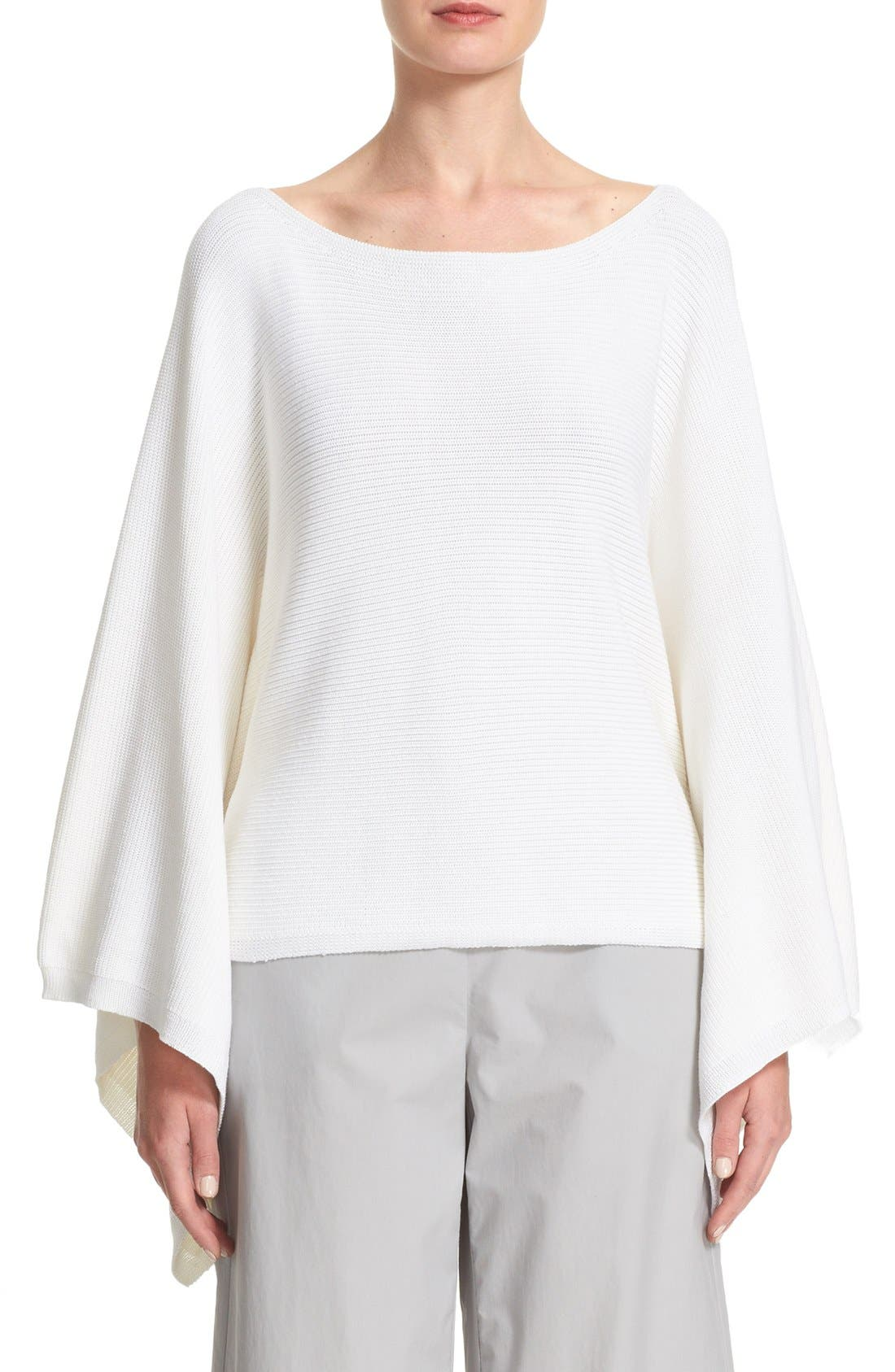 Main Image - Lafayette 148 New York Crop Silk & Cotton Kimono Sweater