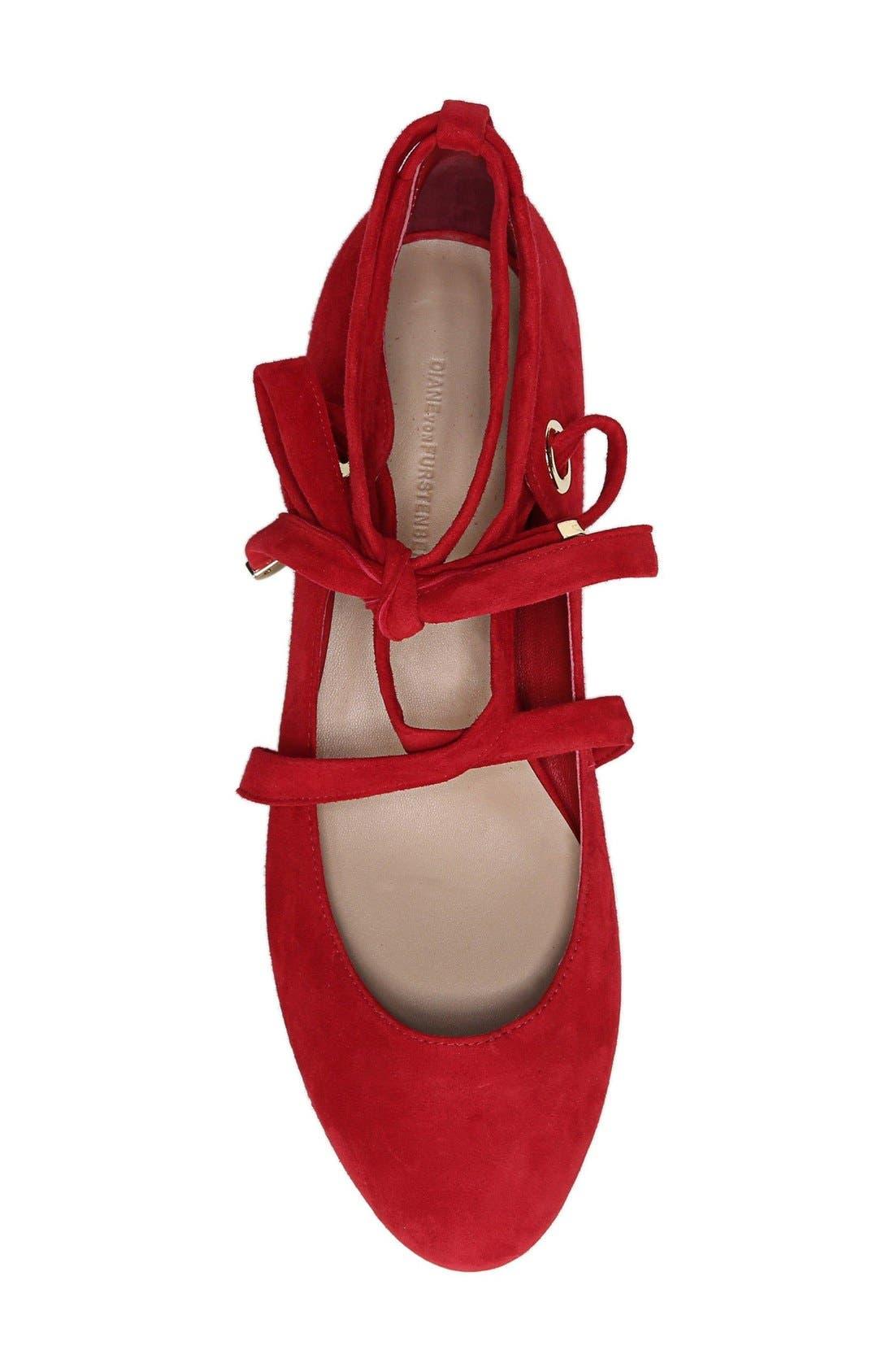 Alternate Image 4  - Diane von Furstenberg Dakar Ankle Tie Flat (Women)