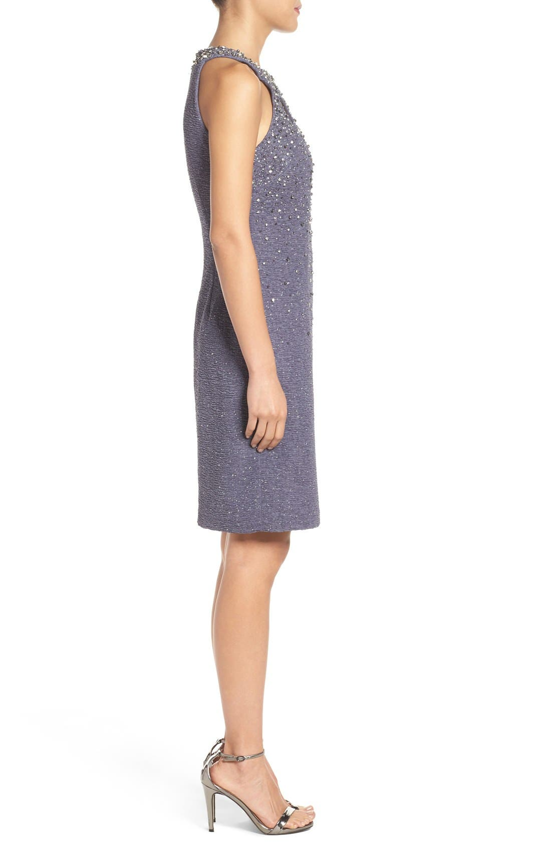 Alternate Image 4  - Eliza J Embellished Sheath Dress (Regular & Petite)
