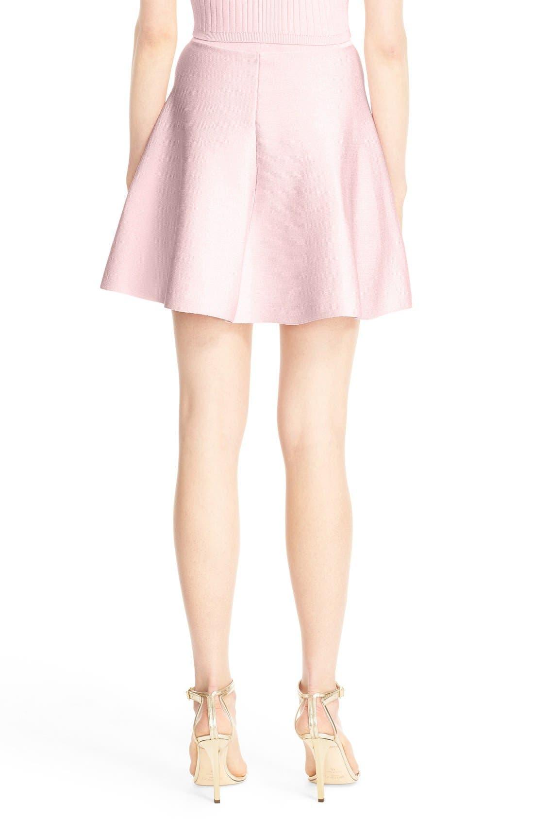 Alternate Image 2  - Cushnie et Ochs Knit Circle Cut Miniskirt
