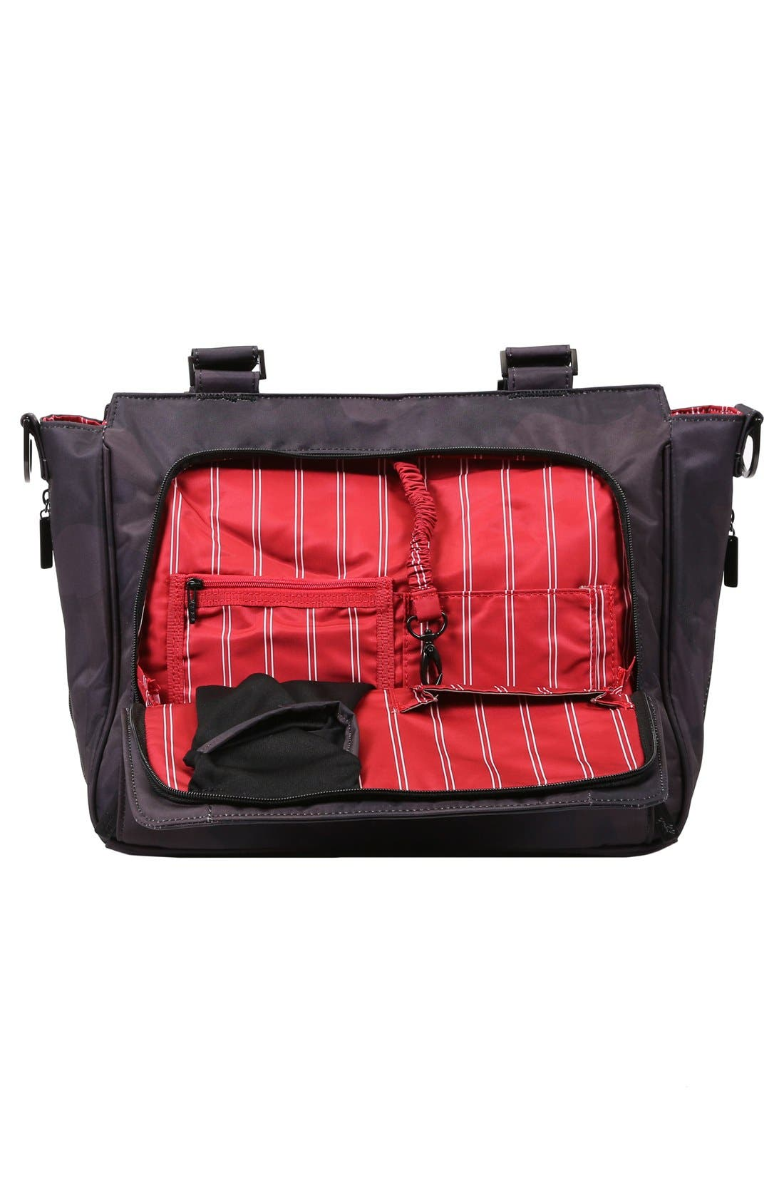 'Be Classy - Onyx Collection' Messenger Diaper Bag,                             Alternate thumbnail 6, color,                             Black Ops