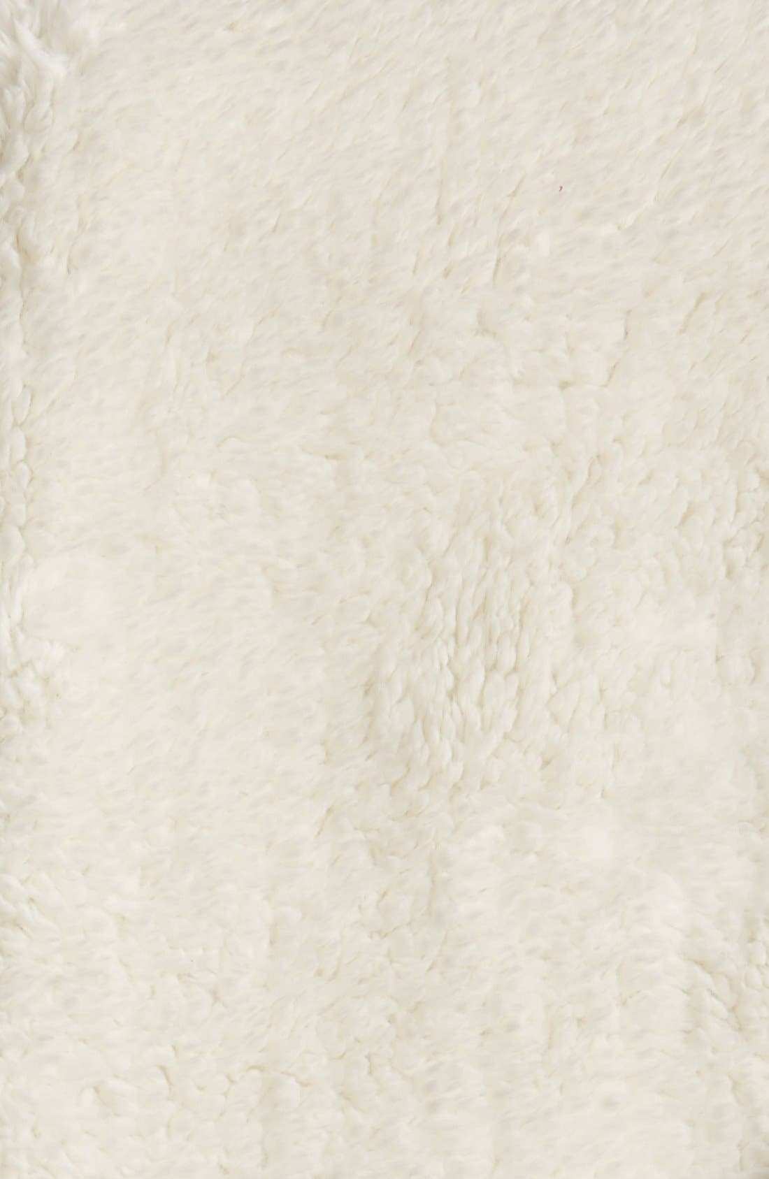 Nordstrom Jersey/Faux Fur Throw,                             Alternate thumbnail 3, color,                             Grey Alloy Heather