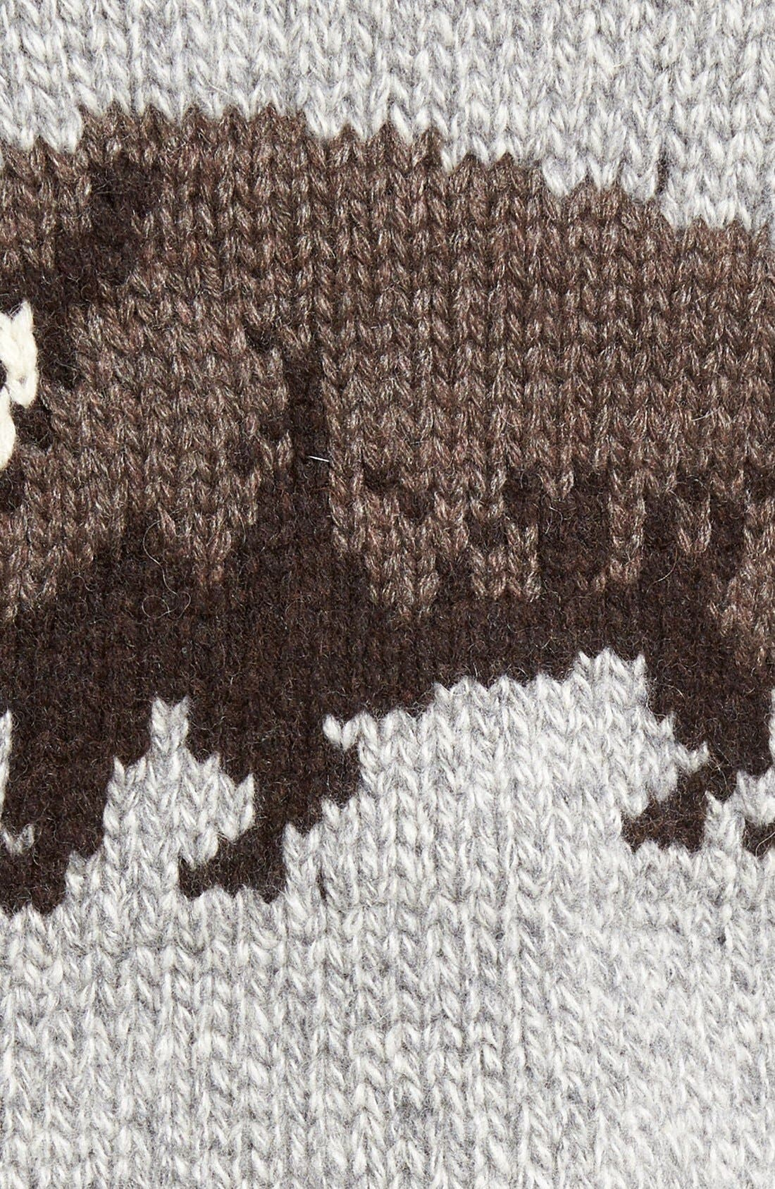 Cowichan Pullover Sweater,                             Alternate thumbnail 5, color,                             Heather Grey