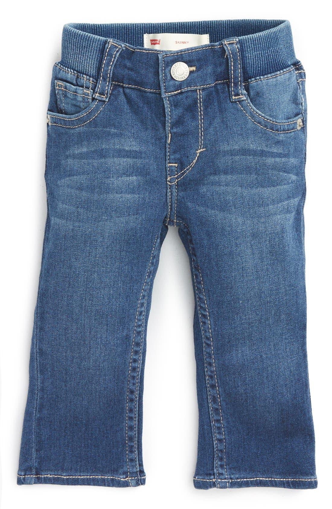 Skinny Jeans,                             Main thumbnail 1, color,                             Costal