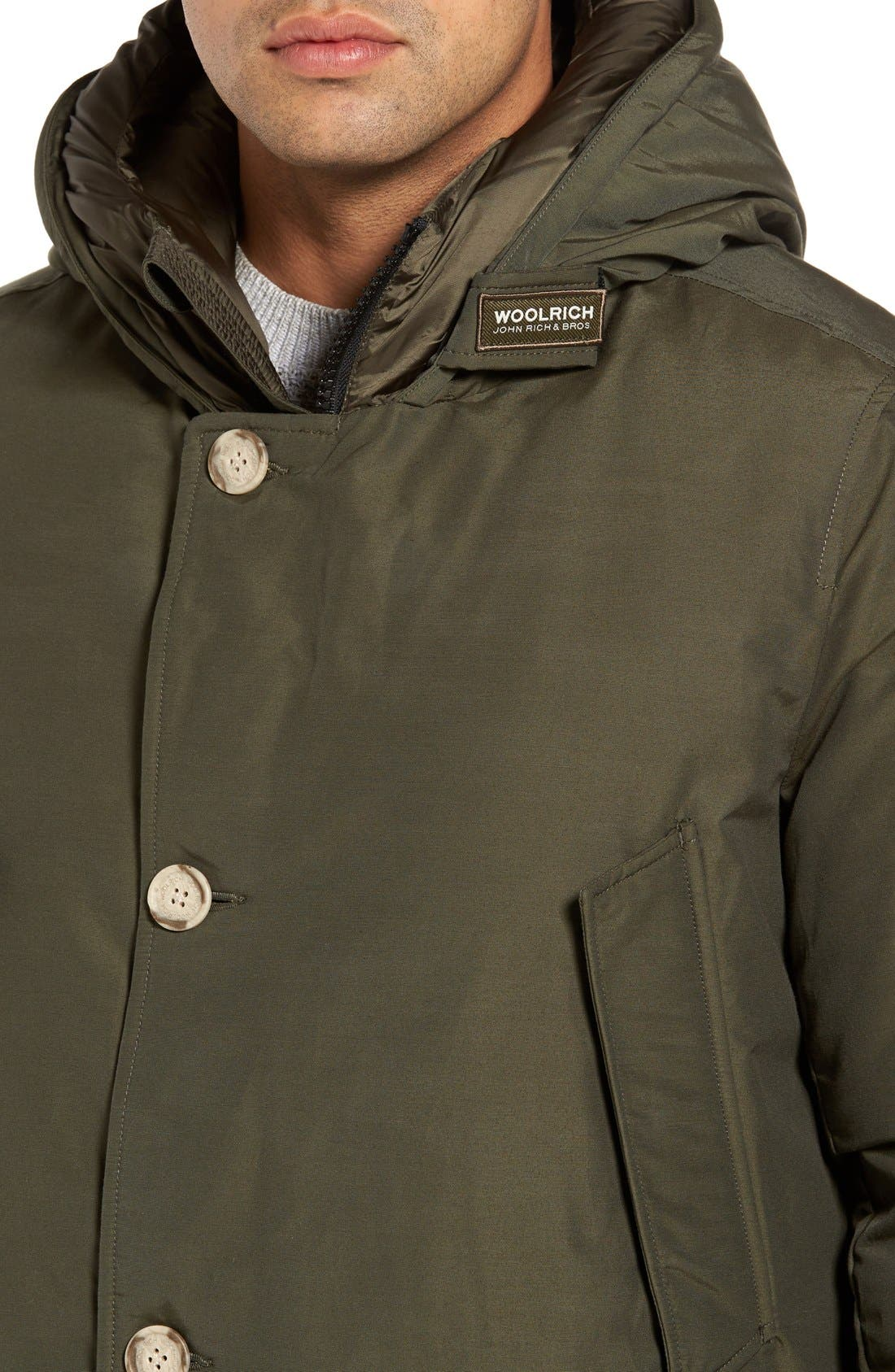 John Rich Down Arctic Parka,                             Alternate thumbnail 4, color,                             Dark Green