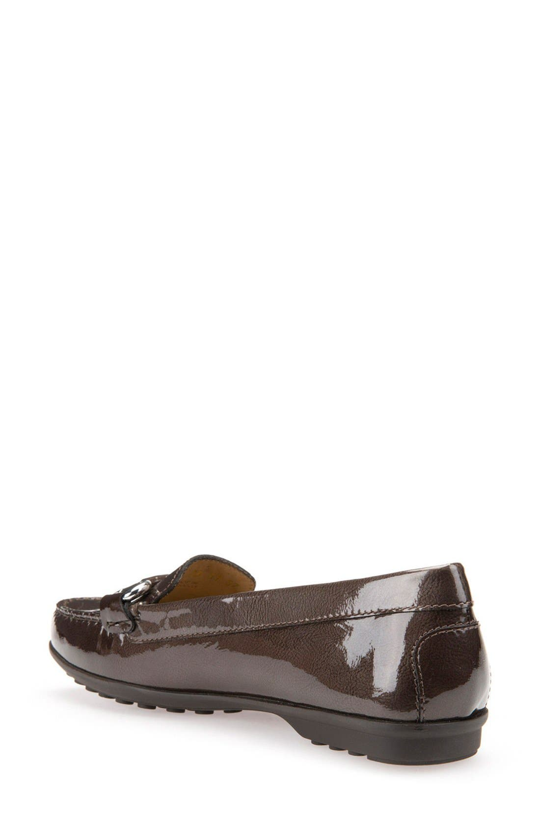 Elidia Bit Water Resistant Loafer,                             Alternate thumbnail 2, color,                             Chestnut Leather
