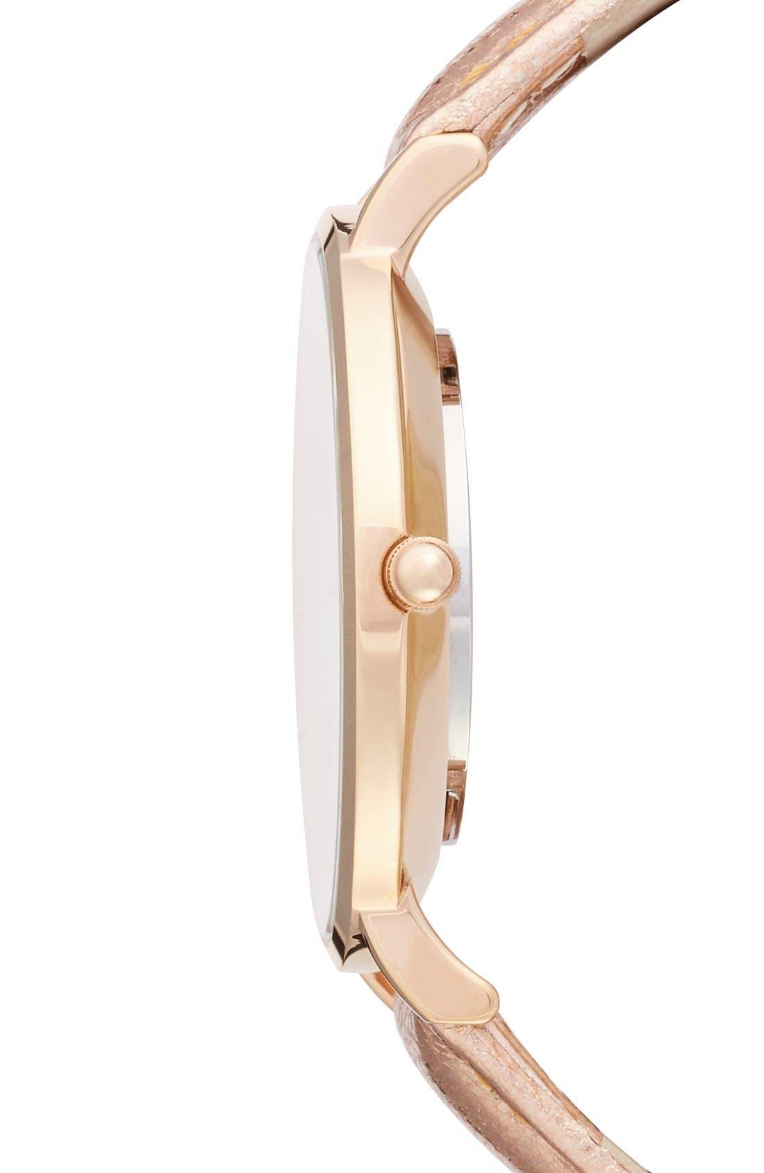 Alternate Image 3  - CLUSE La Boheme Metallic Strap Watch, 38mm