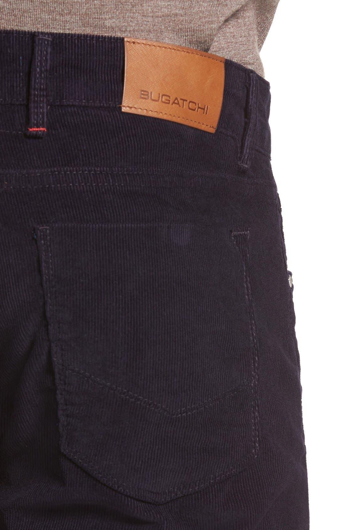 Alternate Image 4  - Bugatchi Slim Fit Corduroy Pants
