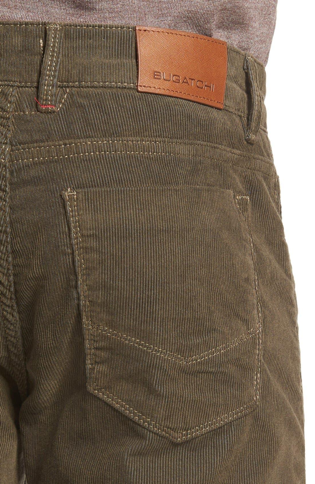 Slim Fit Corduroy Pants,                             Alternate thumbnail 4, color,                             Sage