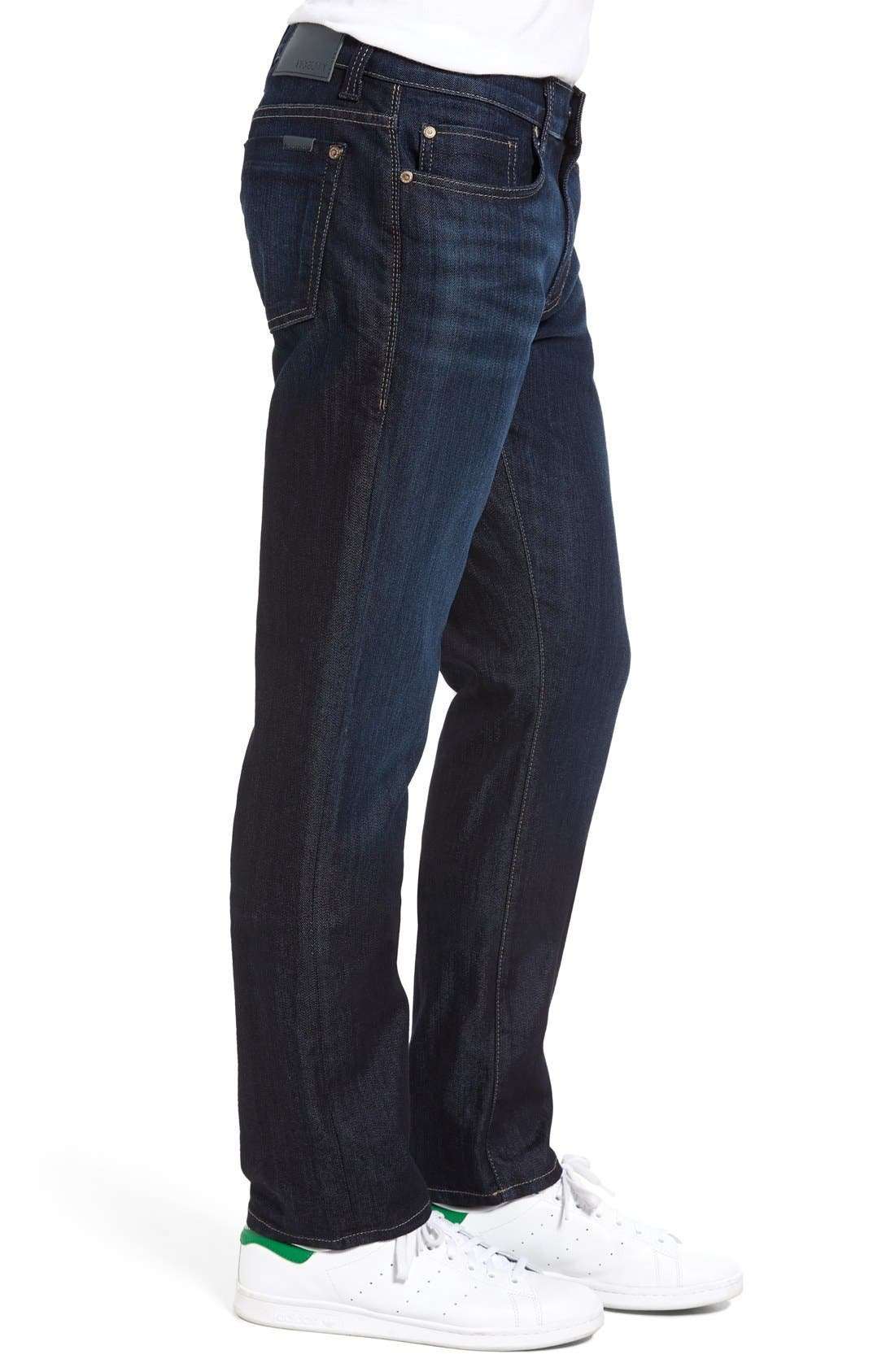 Impala Straight Leg Jeans,                             Alternate thumbnail 3, color,                             Lunar Blue