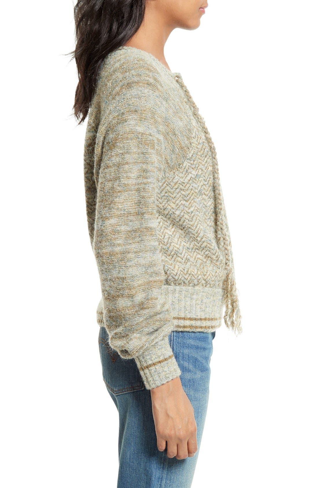 Alternate Image 3  - Free People Lace-Up Sweater