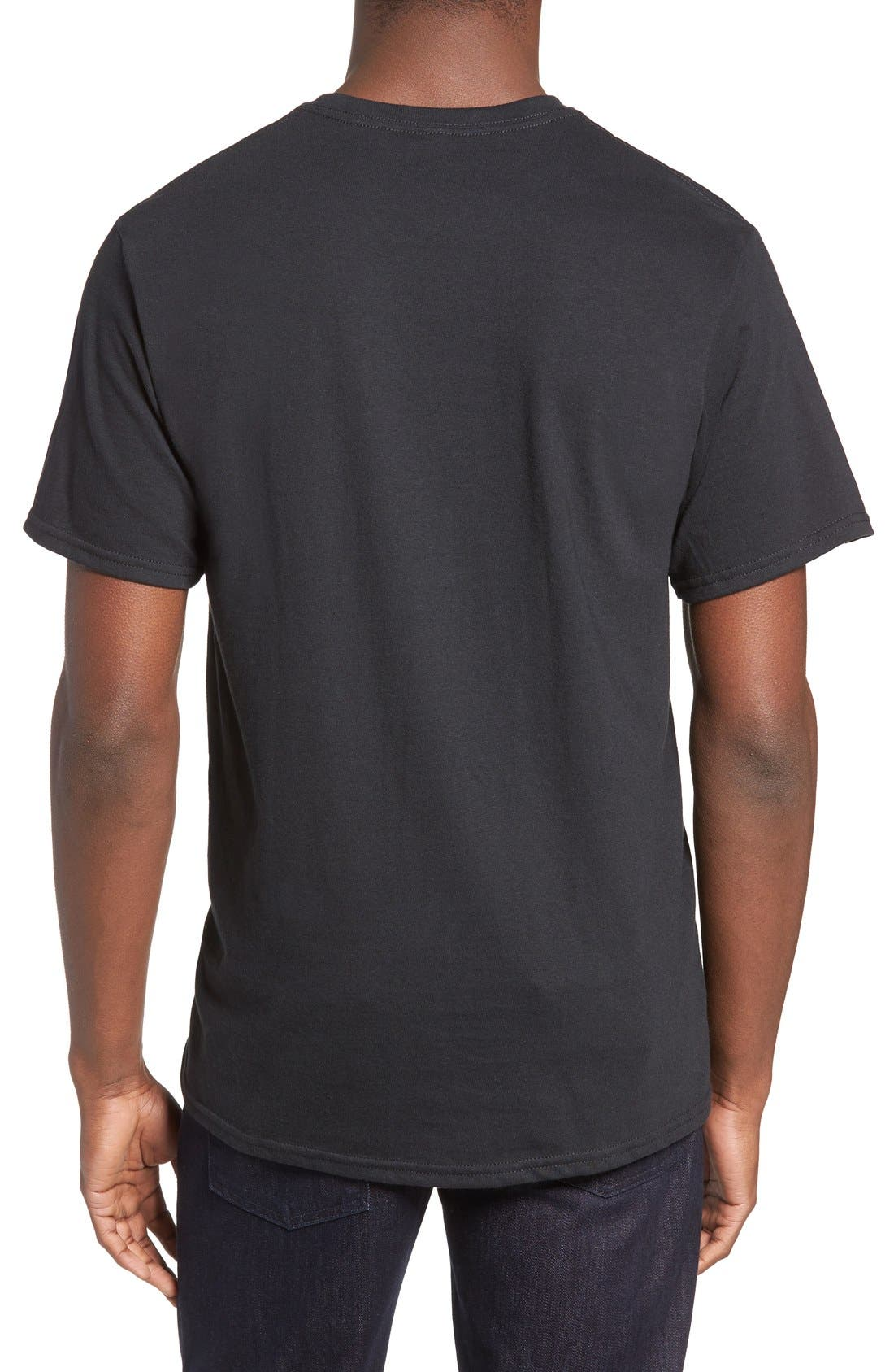 USA Graphic T-Shirt,                             Alternate thumbnail 2, color,                             Black