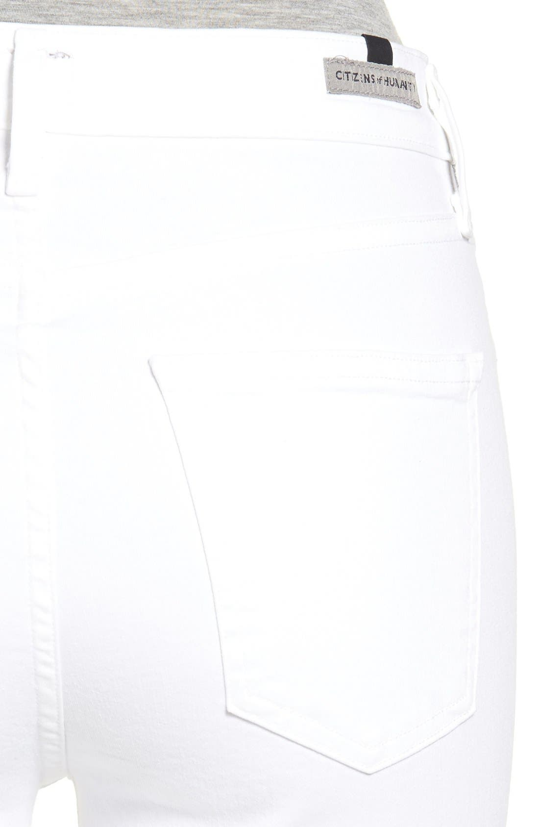Alternate Image 4  - Citizens of Humanity Rocket High Waist Crop Skinny Jeans (Sculpt White)