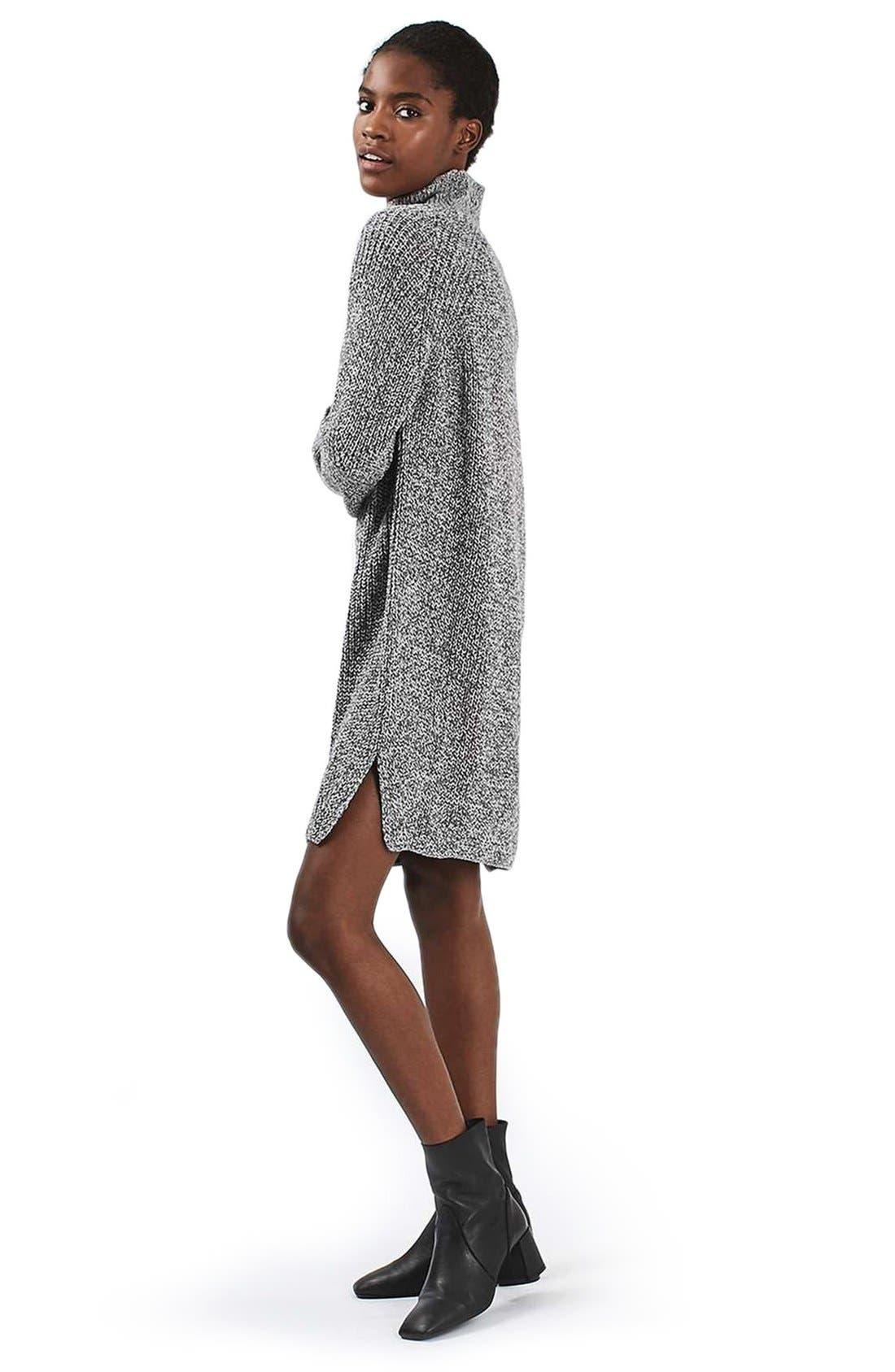 Alternate Image 4  - Topshop Grunge Funnel Neck Sweater Dress