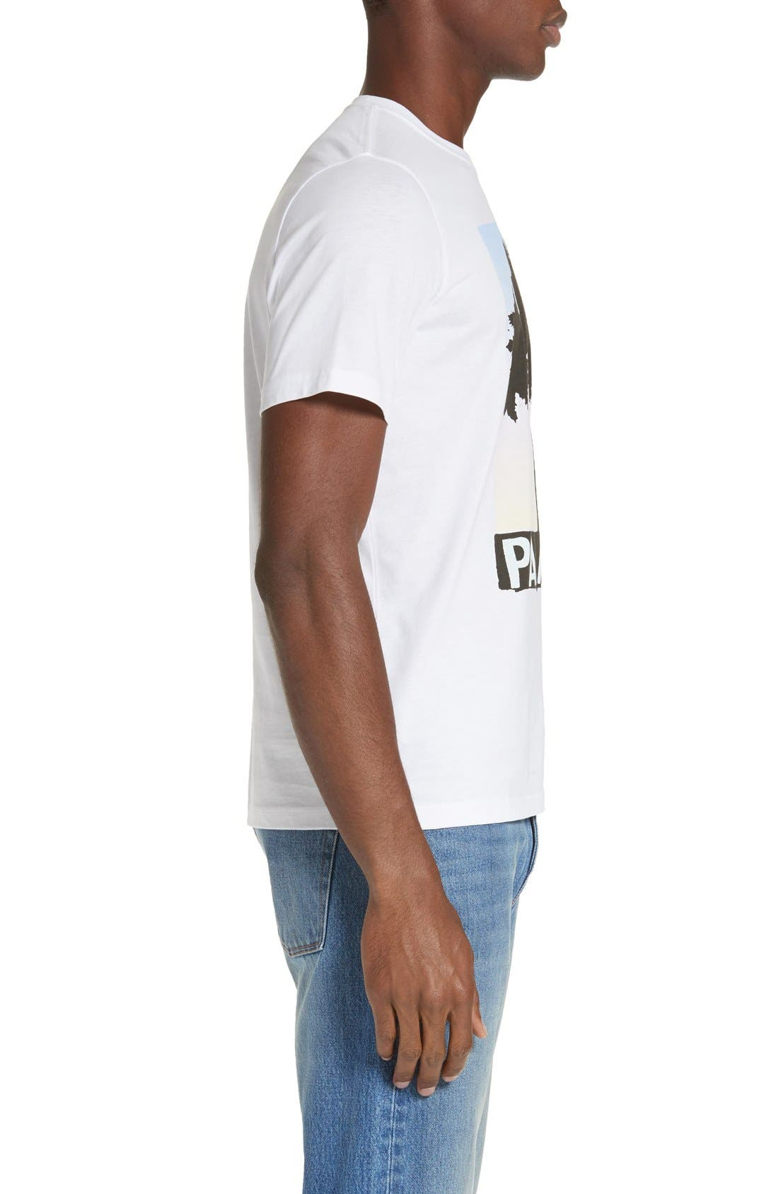 Palm Screen T-Shirt,                             Alternate thumbnail 3, color,                             White