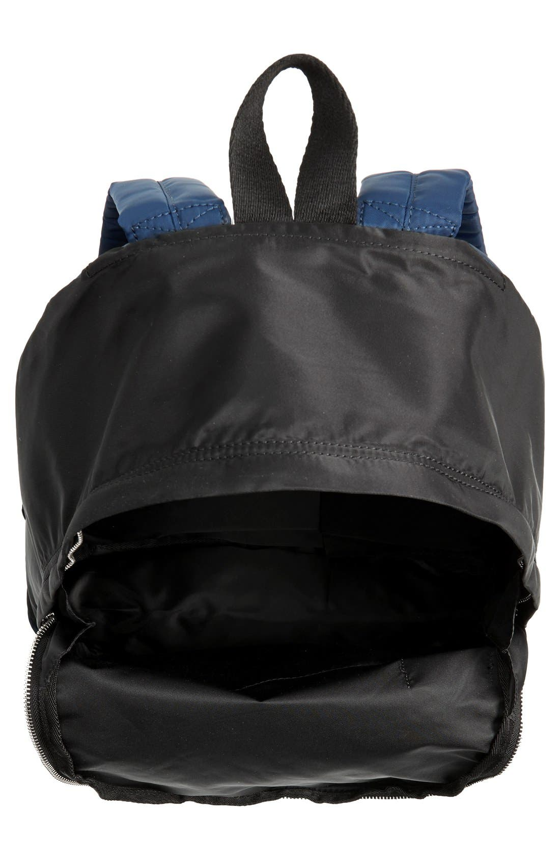 The Heights Adams Backpack,                             Alternate thumbnail 5, color,                             Black/ Navy