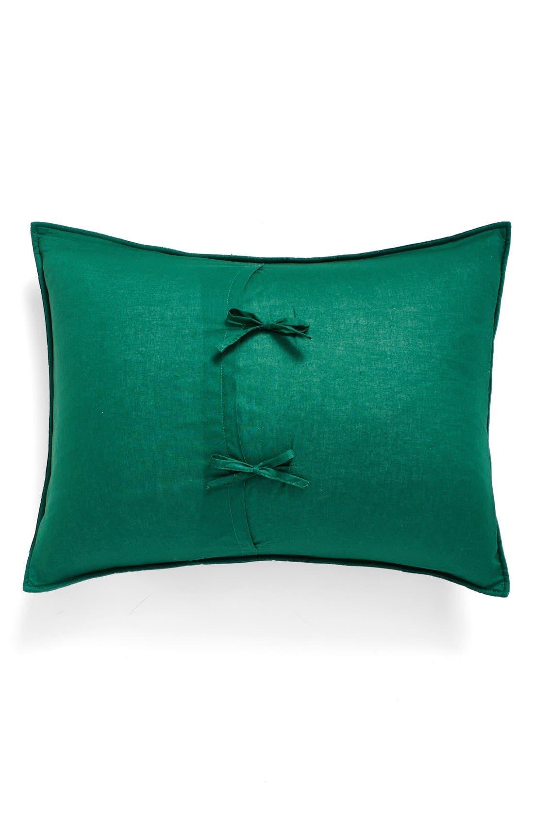 Quilted Velvet Standard Sham,                             Alternate thumbnail 2, color,                             Emerald