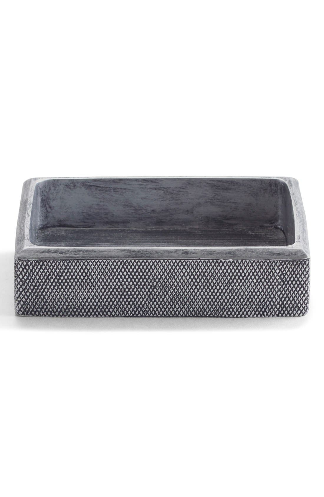 Etched Soap Dish,                         Main,                         color, Grey