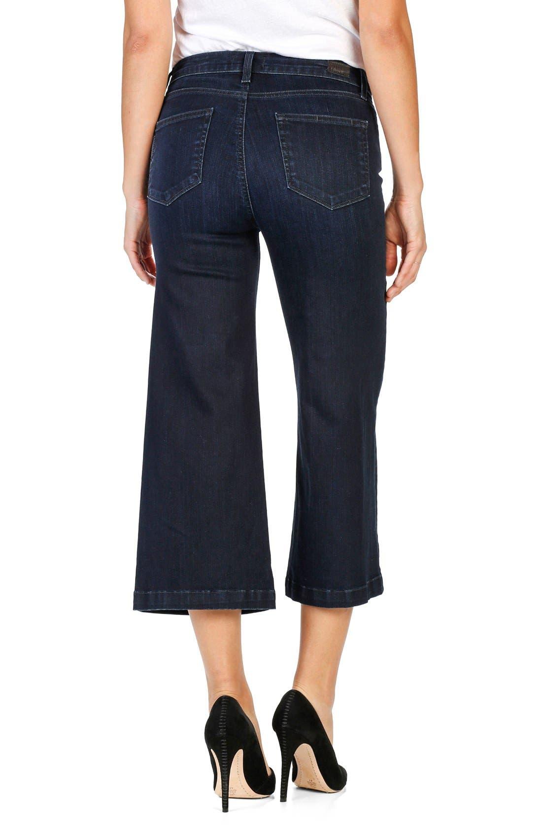 Alternate Image 2  - PAIGE Legacy - Lori Crop Wide Leg Jeans