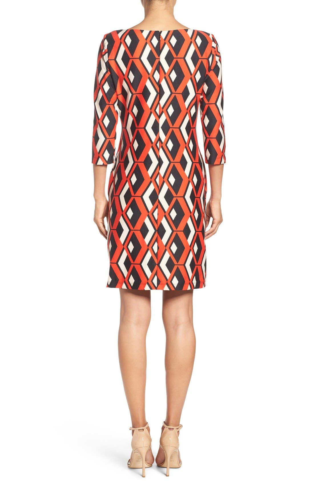Alternate Image 2  - Taylor Dresses Geo Print Shift Dress