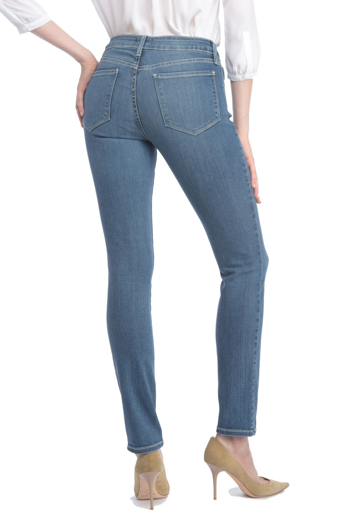 Alina Stretch Skinny Jeans,                             Alternate thumbnail 2, color,                             Heyburn