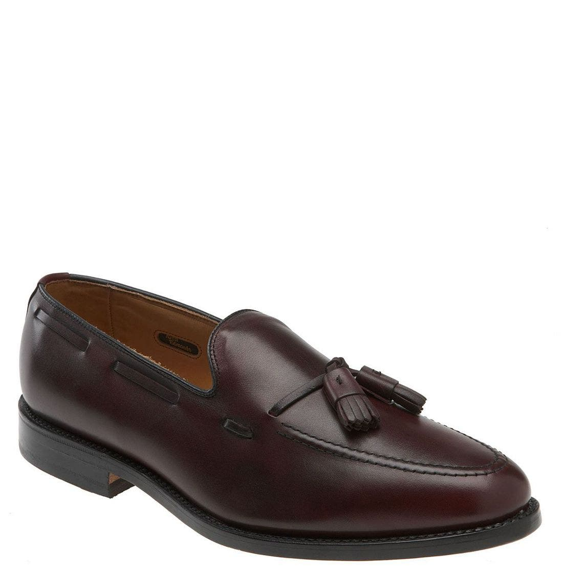 'Grayson' Tassel Loafer,                             Main thumbnail 1, color,                             Merlot Leather
