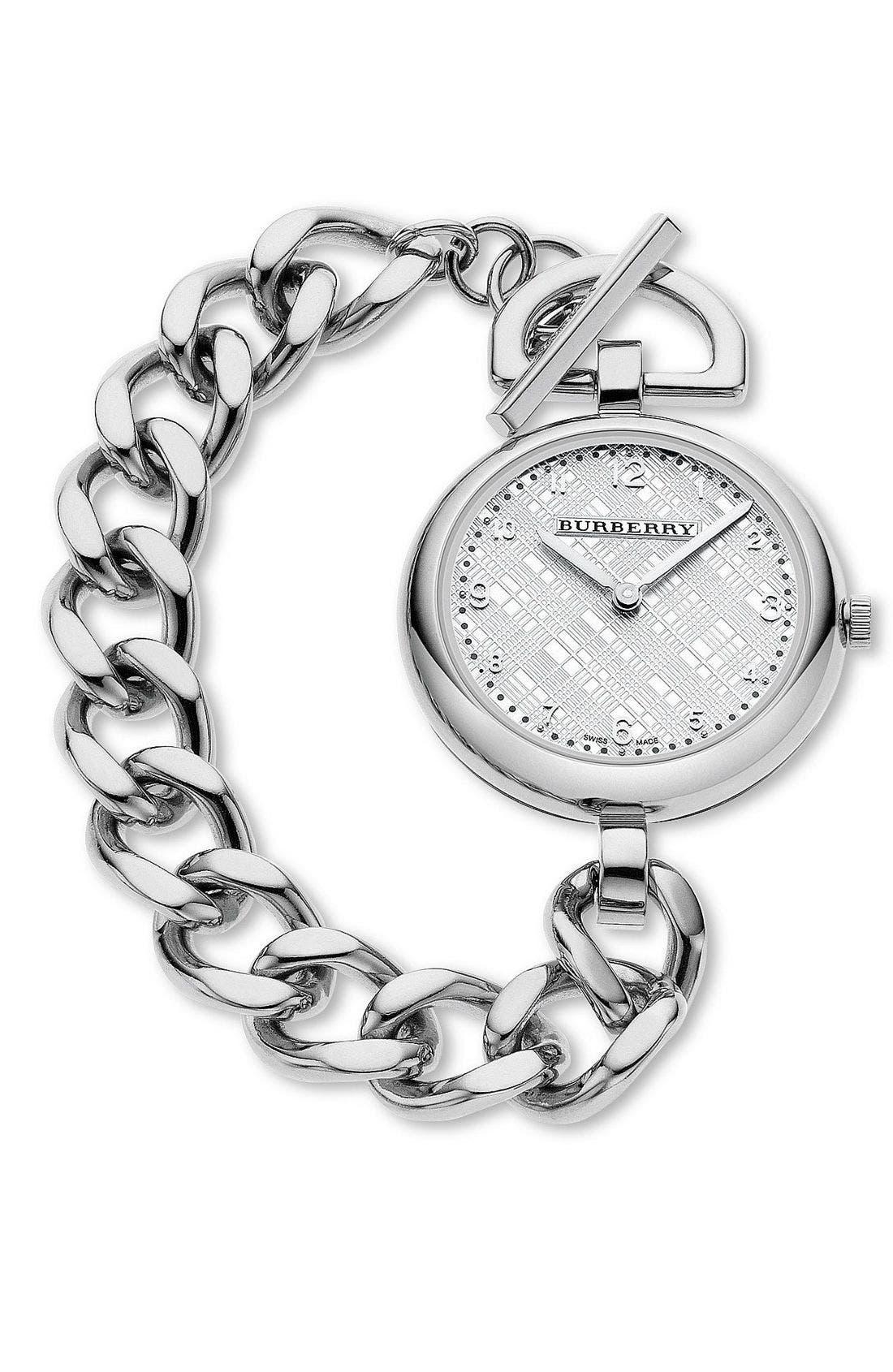 Alternate Image 1 Selected - Burberry Oversized Link Bracelet Watch