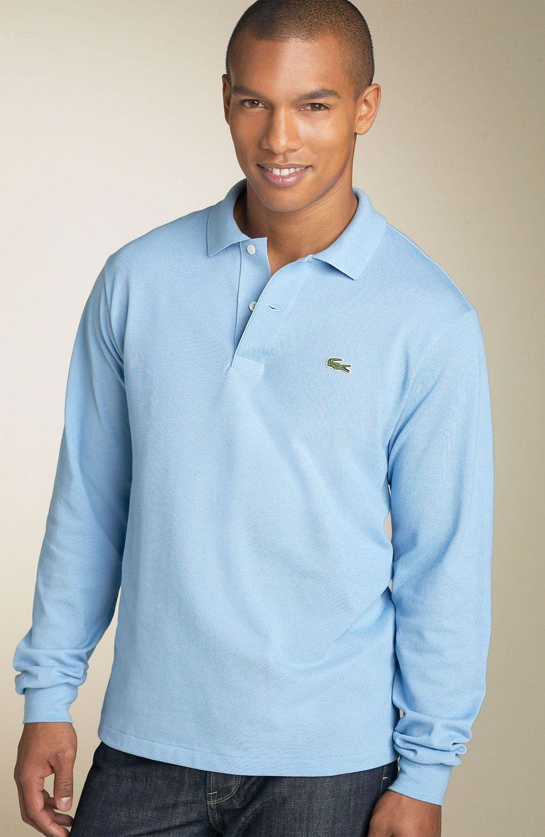 Main Image - Lacoste Classic Fit Long Sleeve Piqué Polo
