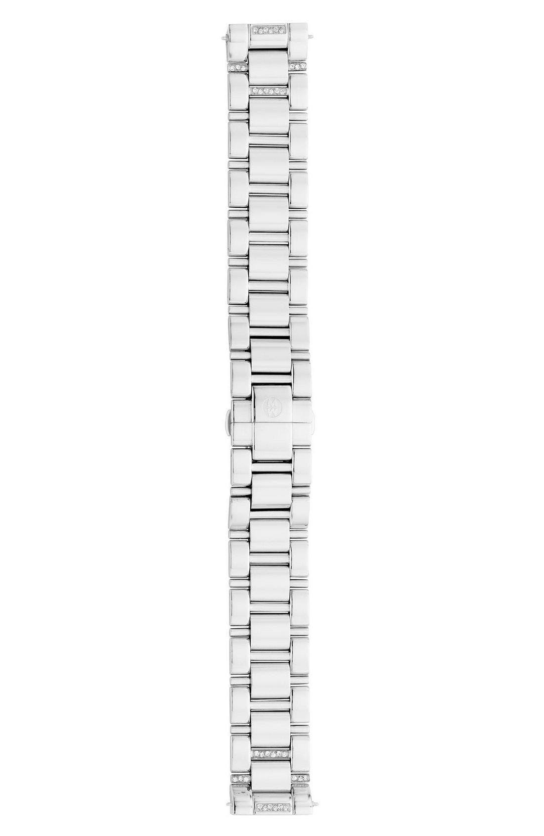 Alternate Image 2  - MICHELE Deco Diamond 18mm Bracelet Watchband