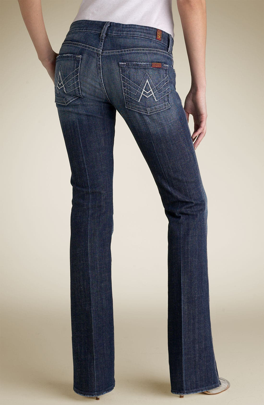 Alternate Image 1 Selected - 7 For All Mankind® A-Pocket Stretch Jeans (Dark New York Wash)