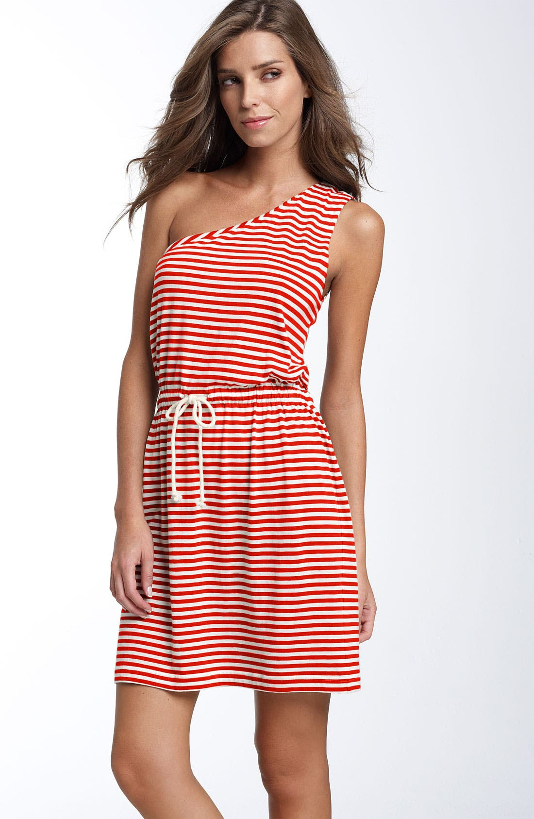 Main Image - Echo Stripe One Shoulder Cover-Up Dress