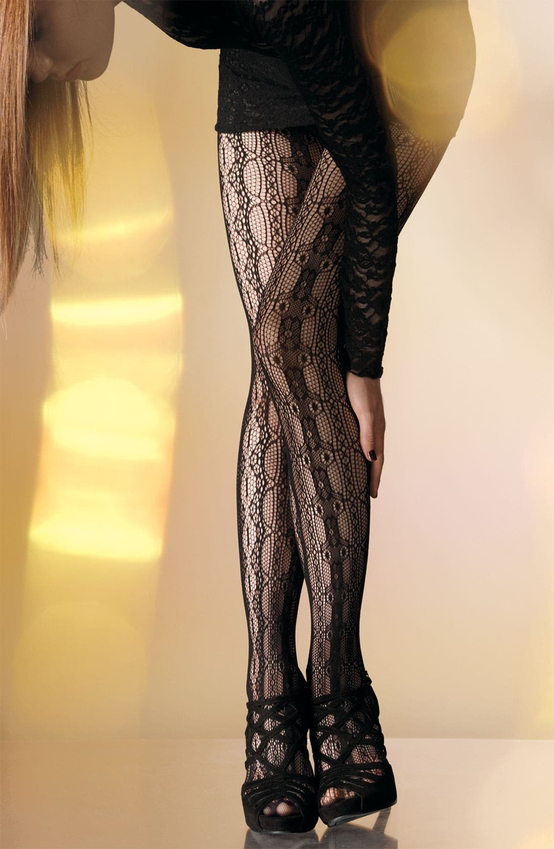 Alternate Image 2  - Betsey Johnson Lace Tights