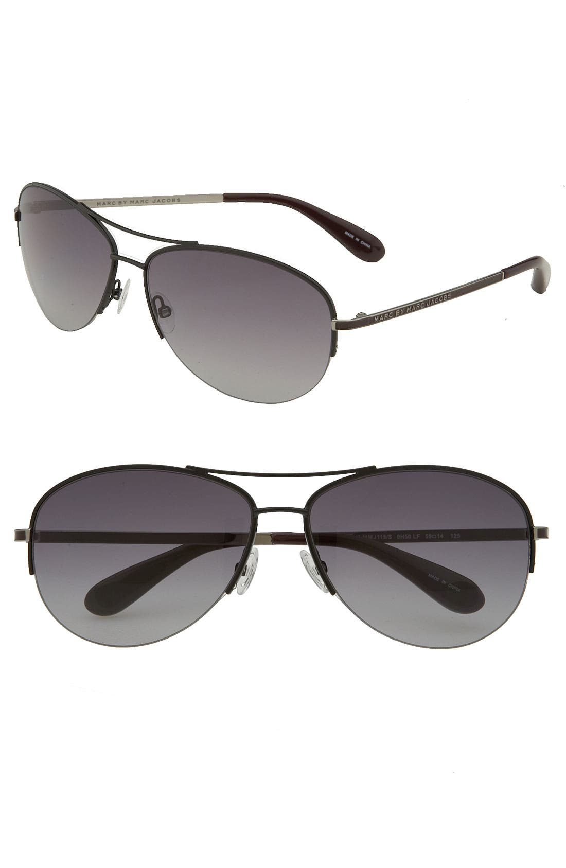 Alternate Image 1 Selected - MARC BY MARC JACOBS 59mm Rimless Aviator Sunglasses