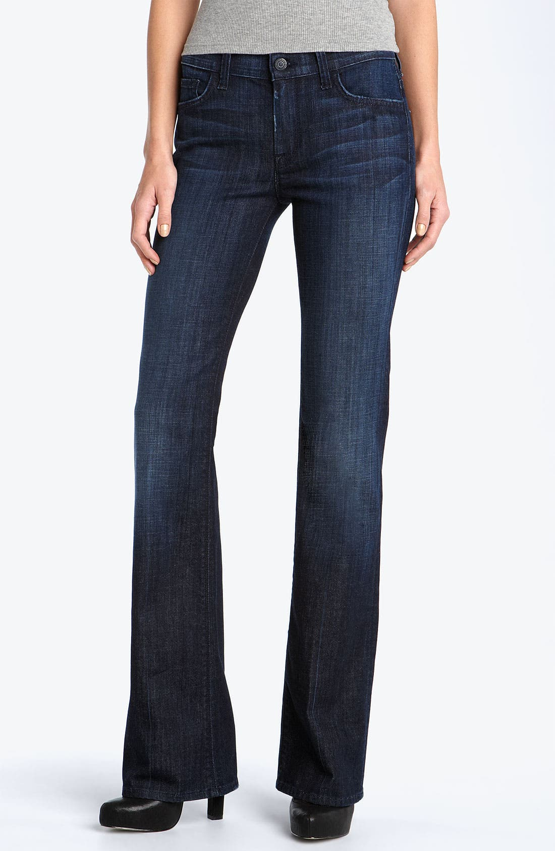 Main Image - 7 For All Mankind® Mid Rise Bootcut Stretch Jeans (Los Angeles Dark)