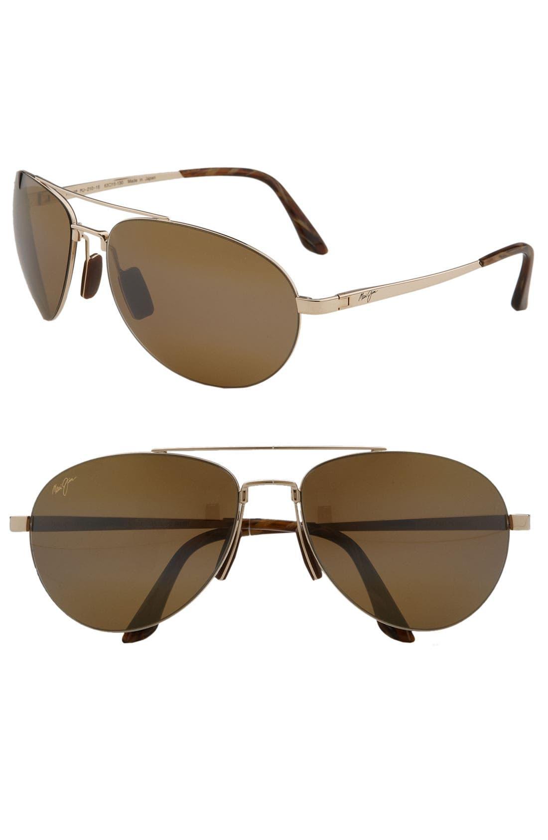 Maui Jim 'Pilot - PolarizedPlus®2' 63mm Sunglasses
