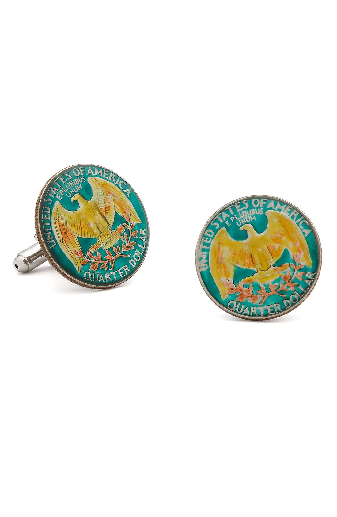 Alternate Image 1 Selected - Penny Black 40 U.S. Quarter Cuff Links