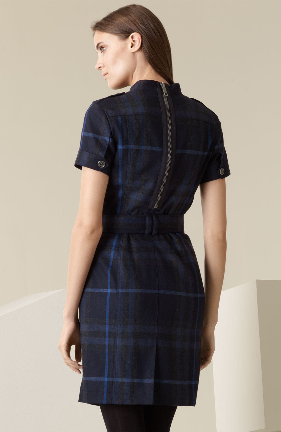 Alternate Image 2  - Burberry Brit Back Zip Flannel Shirtdress