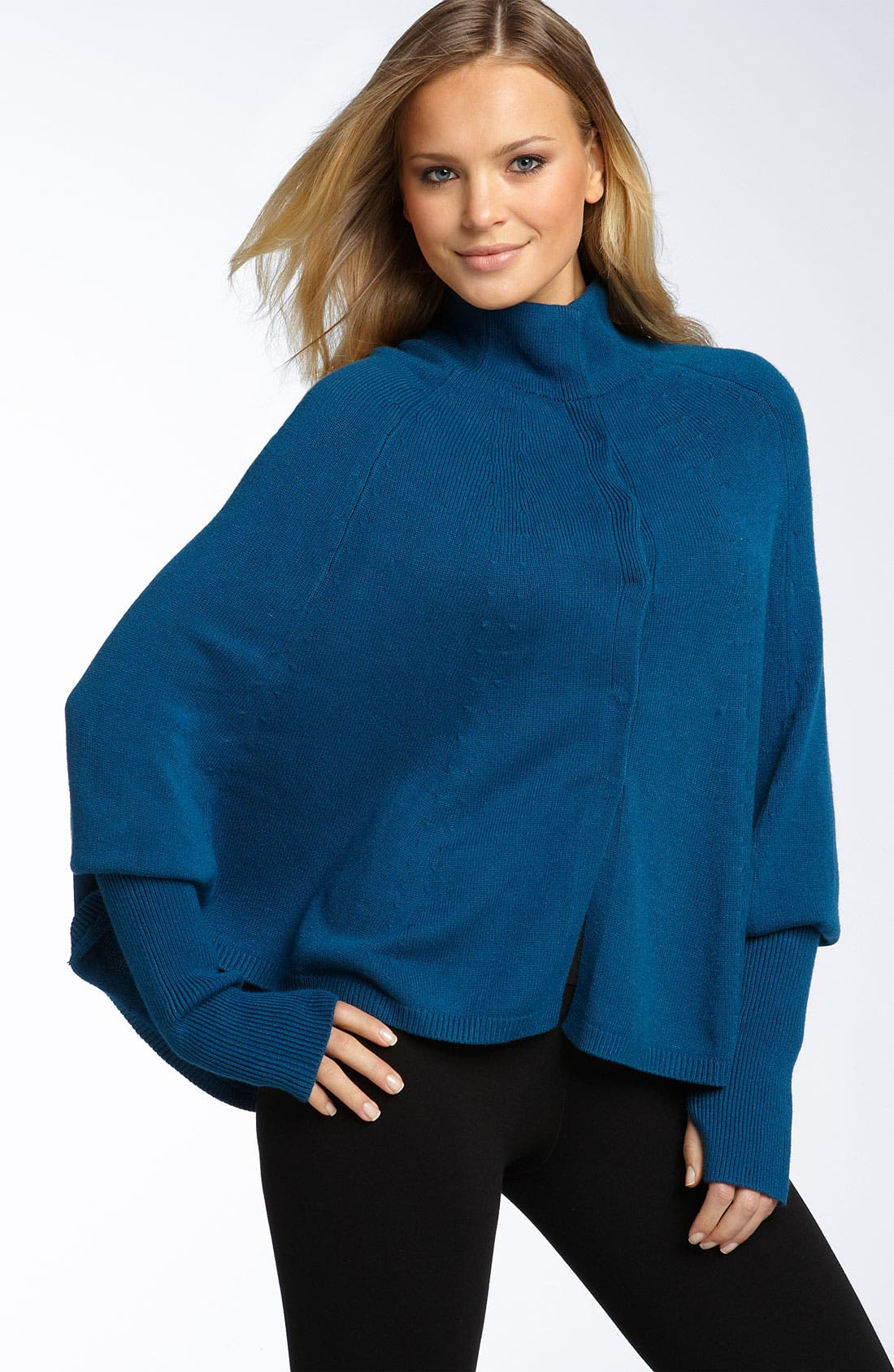 Main Image - Tarnish Mock Neck Wing Sleeve Capelet