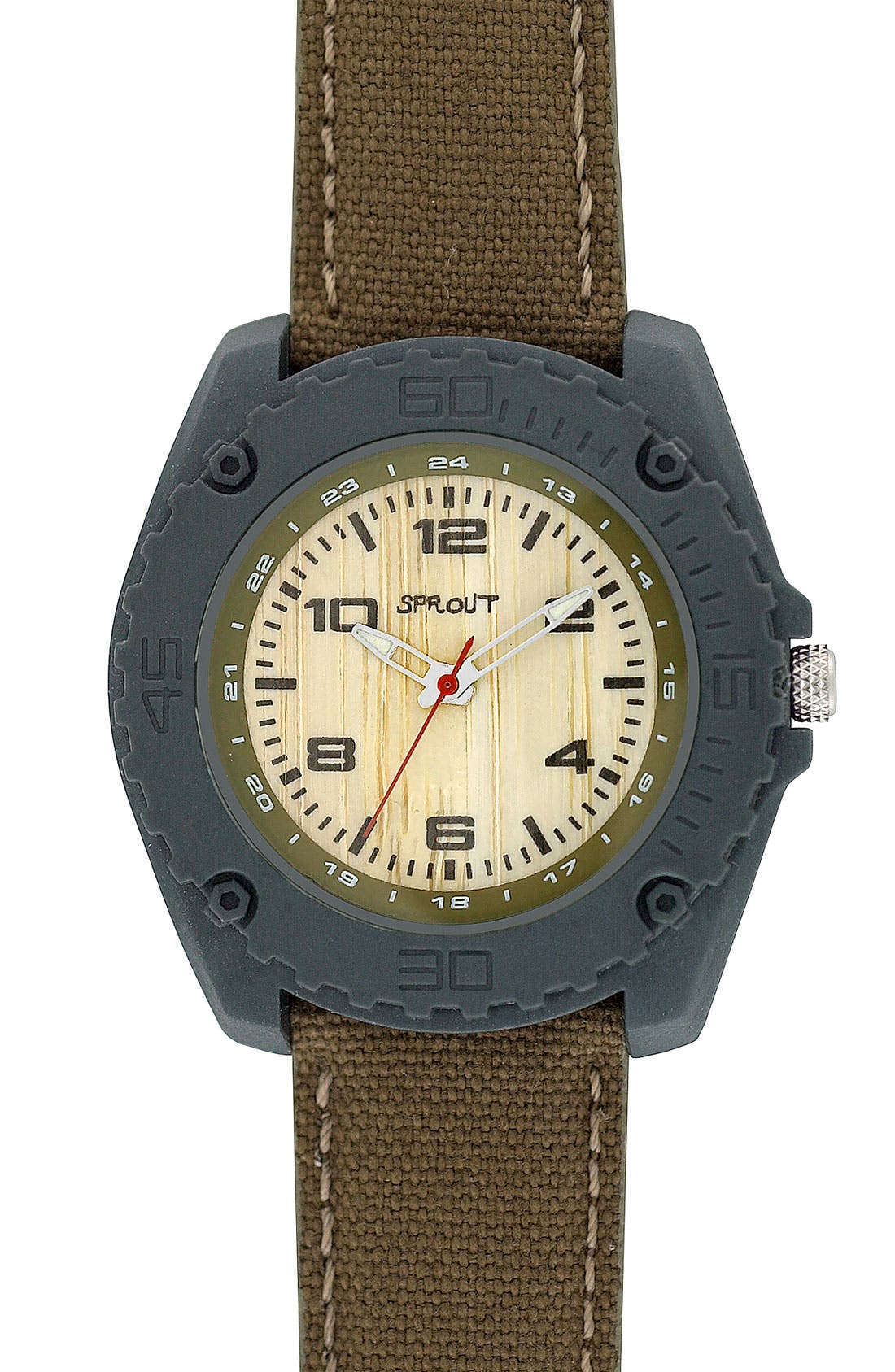 Main Image - SPROUT™ Watches Large Organic Cotton Strap Watch, 45mm