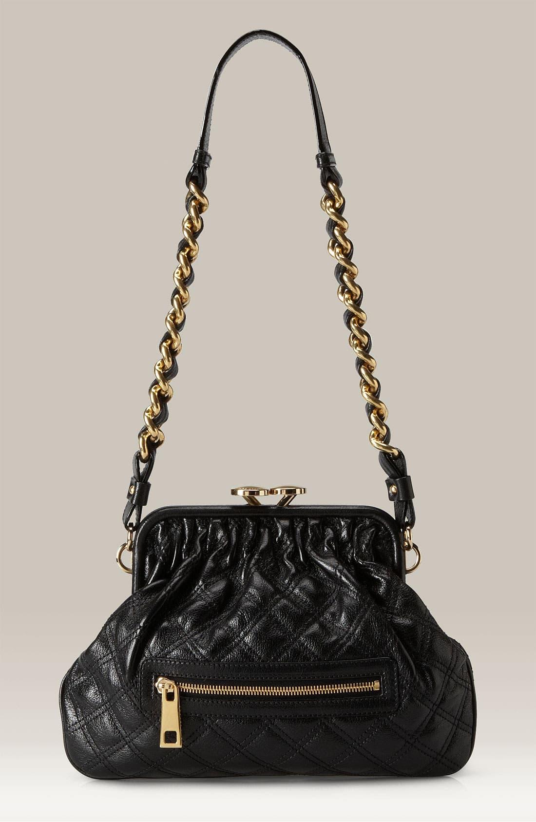 Main Image - MARC JACOBS 'Little Stam' Quilted Frame Shoulder Bag