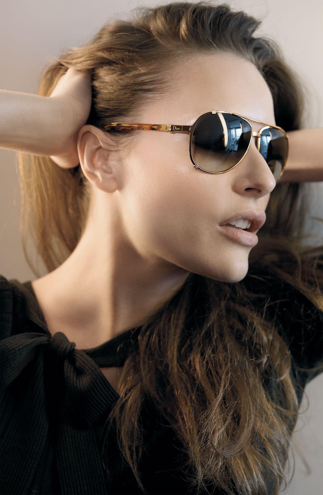 Alternate Image 3  - Dior 'Chicago' 63mm Metal Aviator Sunglasses