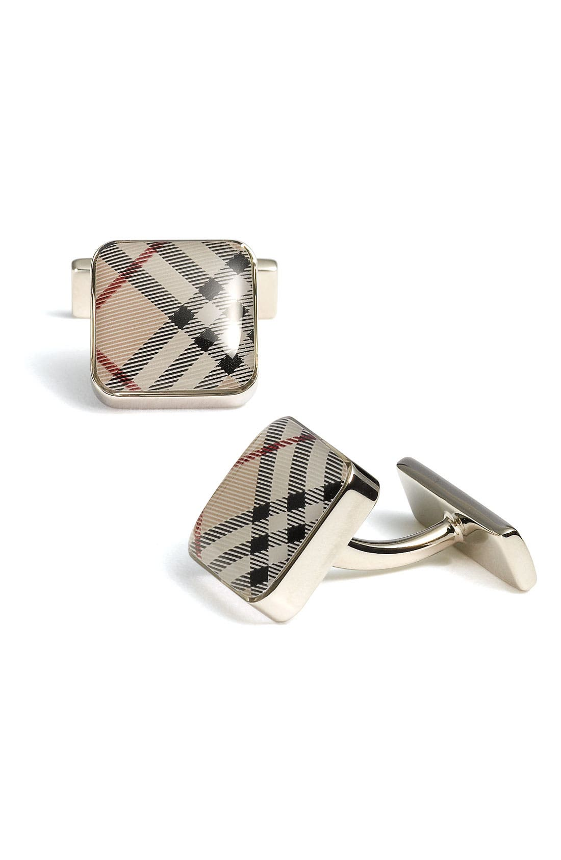 Main Image - Burberry Square Check Cuff Links