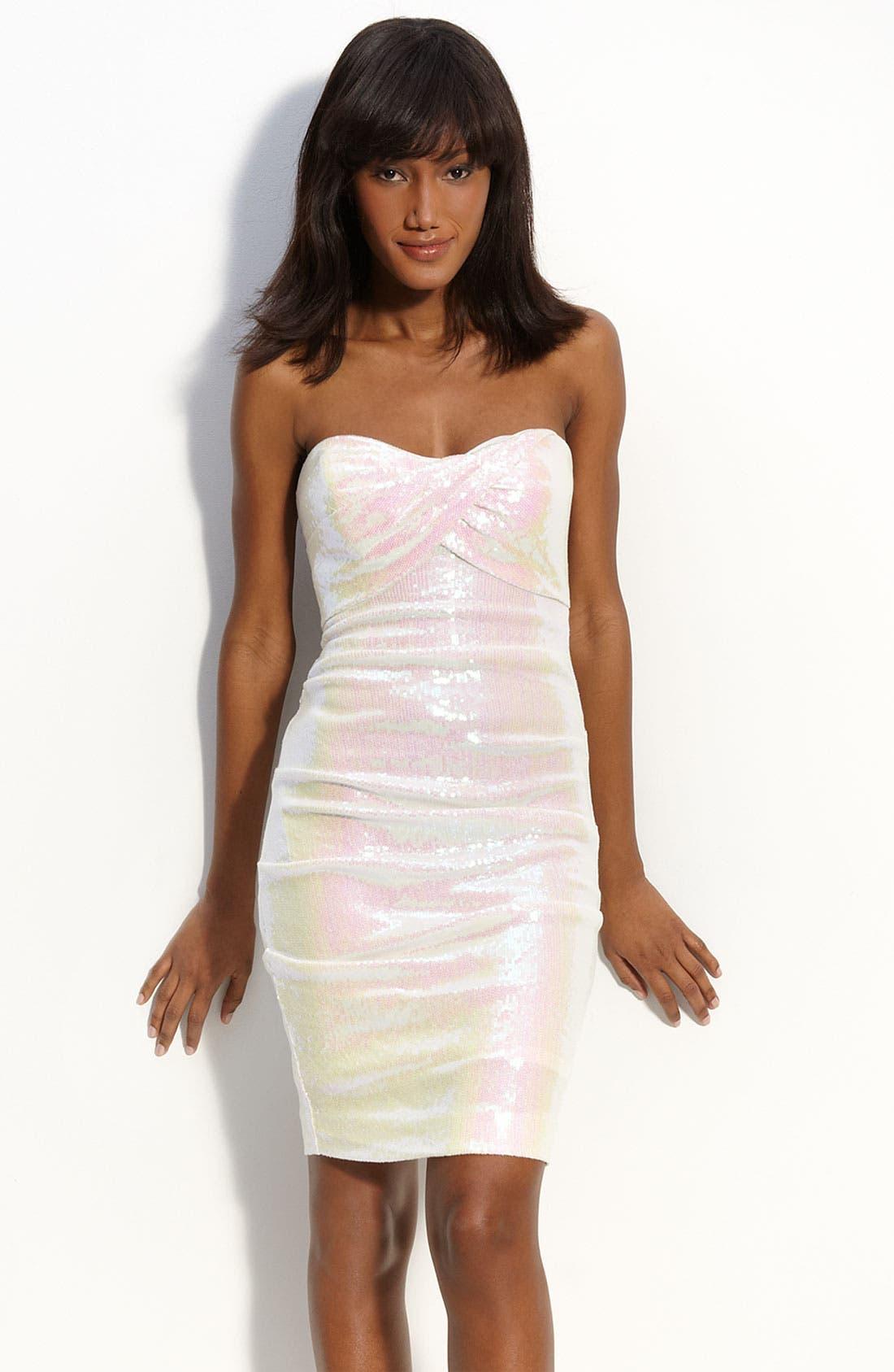 Alternate Image 1 Selected - Nicole Miller Pintuck Sequin Sheath Dress
