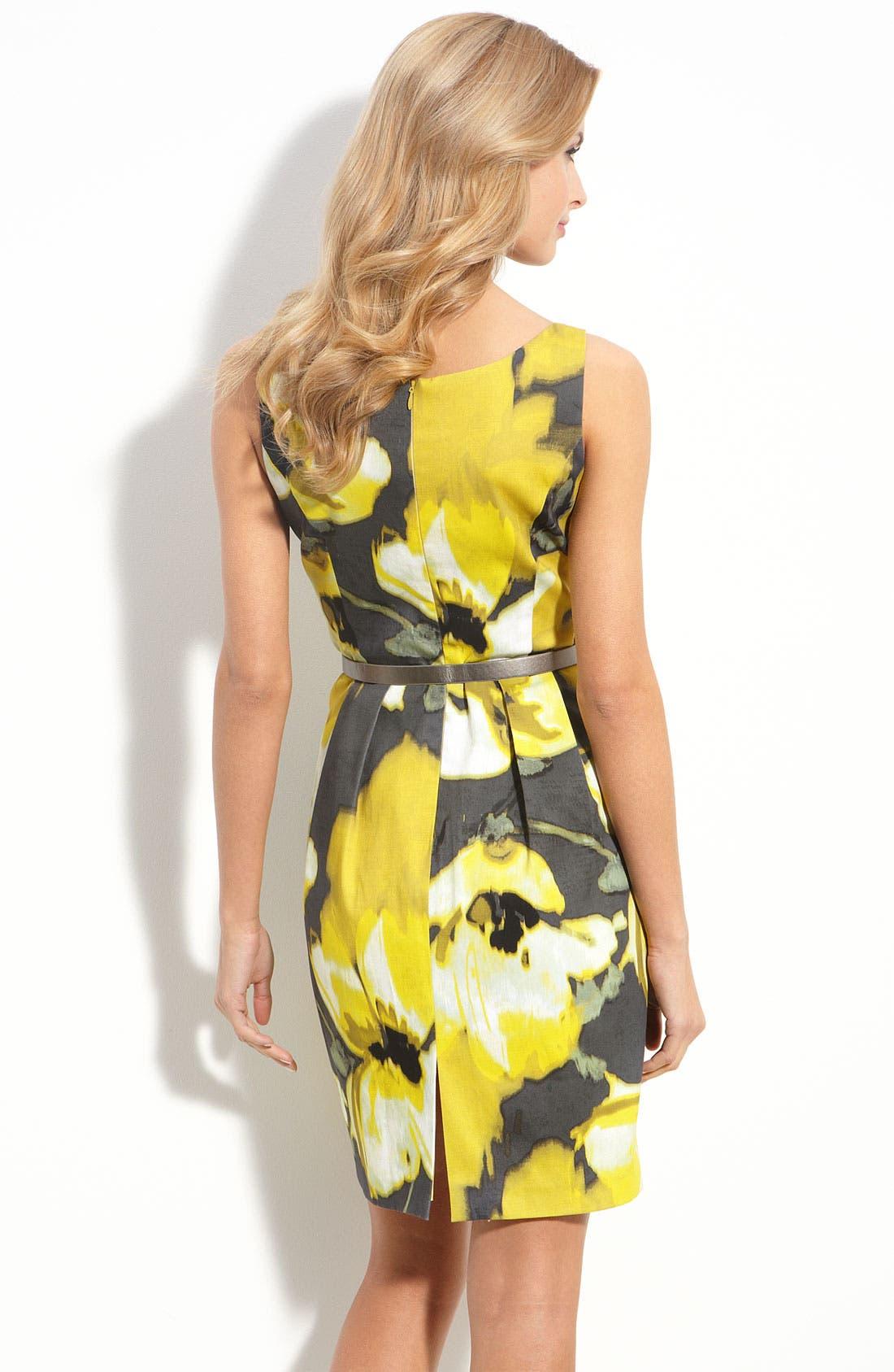 Alternate Image 2  - Eliza J Belted Stretch Cotton Dress (Nordstrom Exclusive)