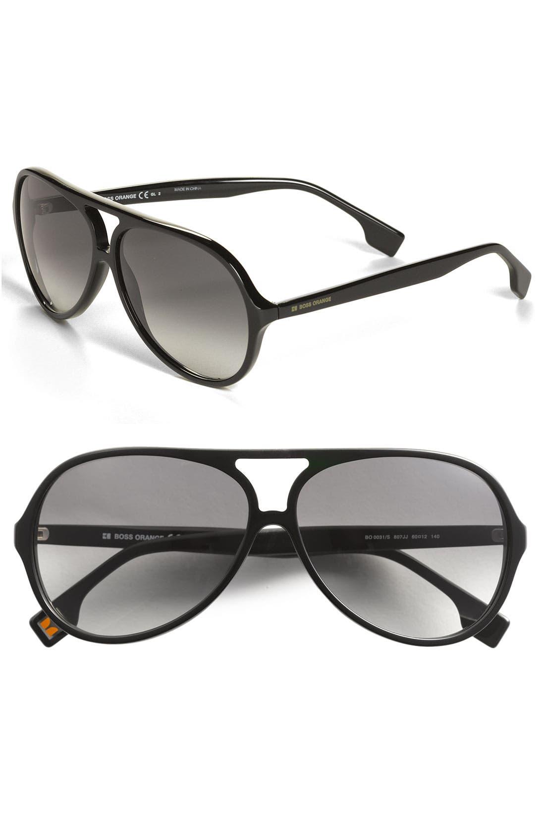 Main Image - BOSS Orange 60mm Aviator Sunglasses