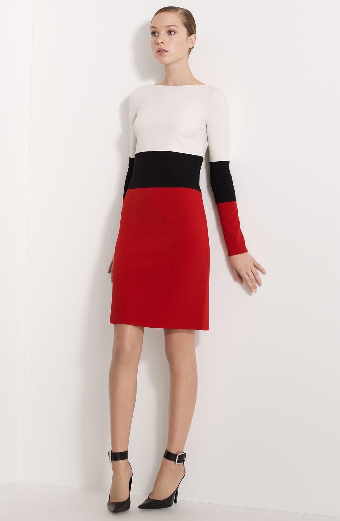 Main Image - Michael Kors Colorblocked Double Face Stretch Crepe Dress