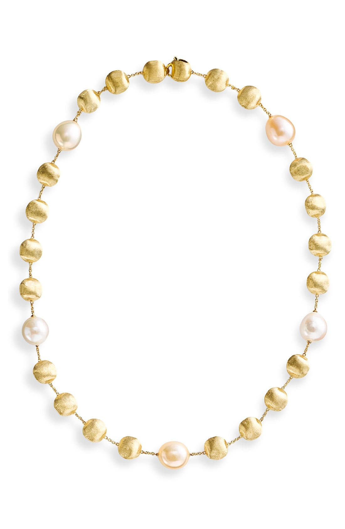 Alternate Image 1 Selected - Marco Bicego 'Africa' Gold & Diamond Necklace