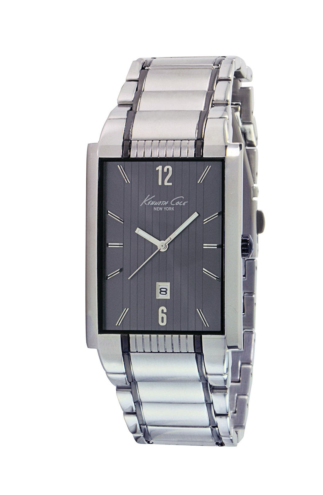 Alternate Image 1 Selected - Kenneth Cole New York Grey Stripe Watch