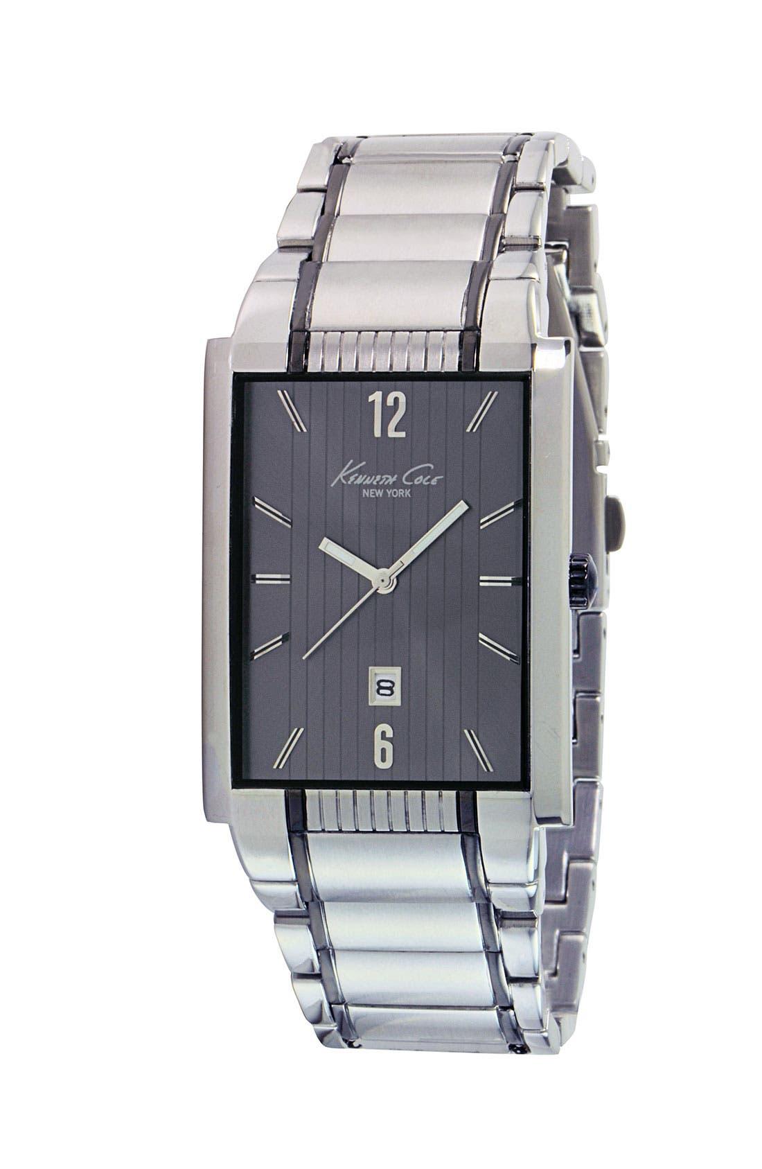 Main Image - Kenneth Cole New York Grey Stripe Watch